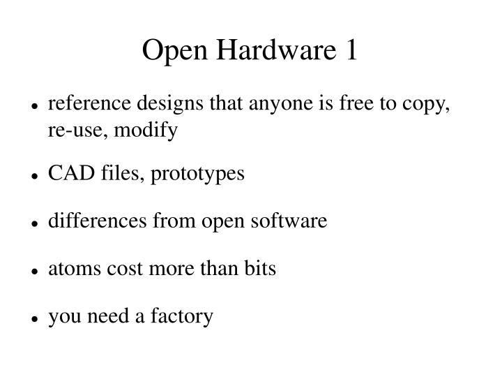 Open Hardware 1