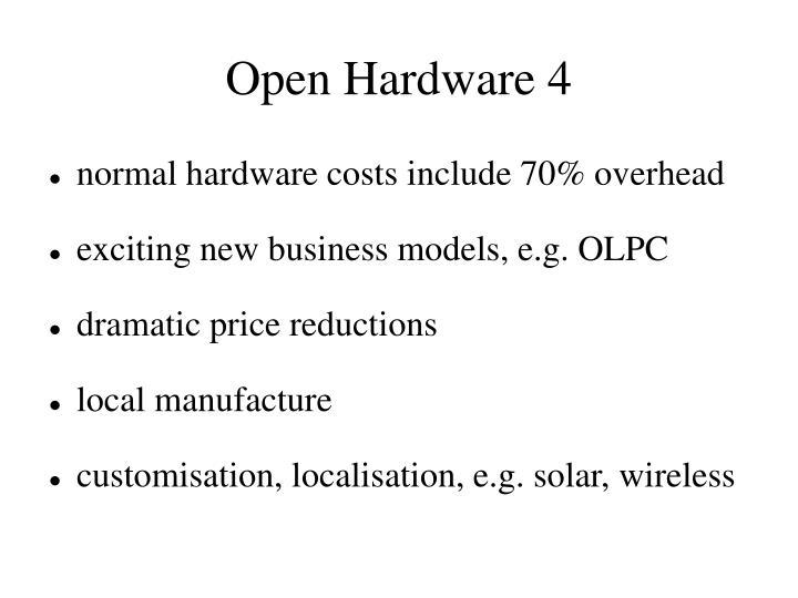 Open Hardware 4
