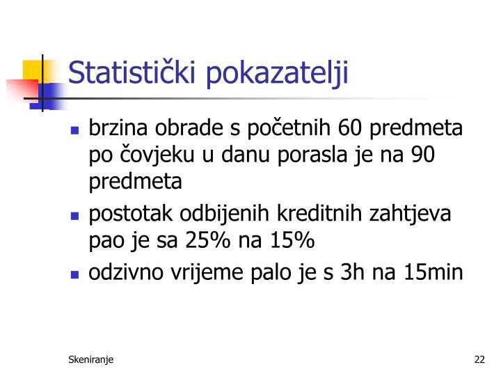 Statistički pokazatelji