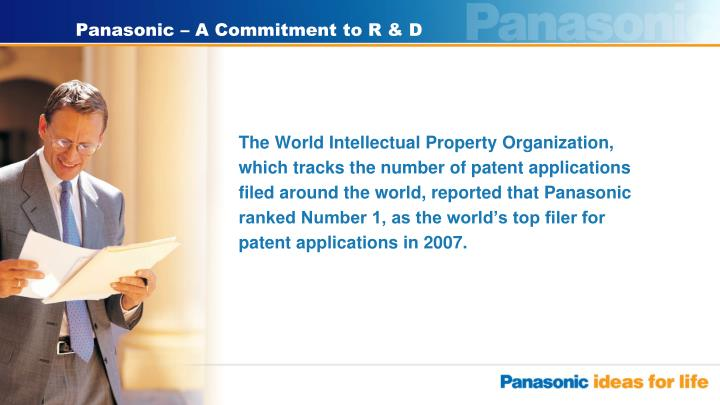 Panasonic a commitment to r d