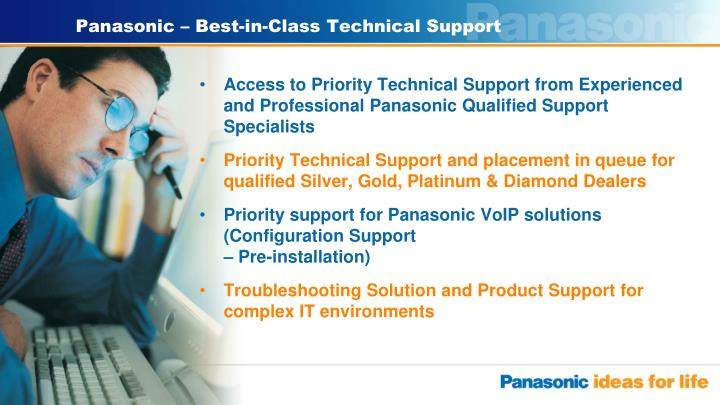 Panasonic – Best-in-Class Technical Support