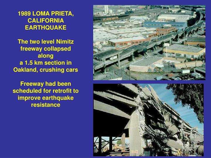 1989 LOMA PRIETA, CALIFORNIA EARTHQUAKE