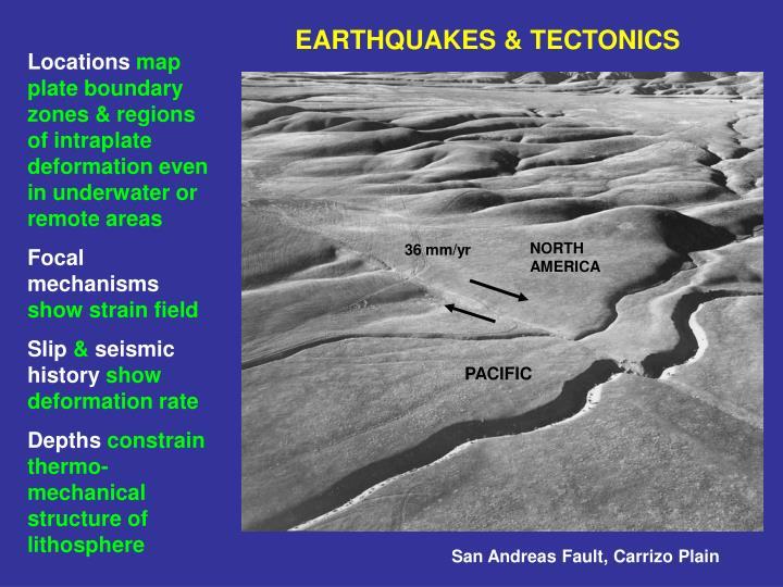 EARTHQUAKES & TECTONICS