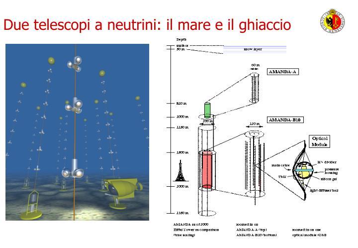 Due telescopi a neutrini: il mare e il ghiaccio