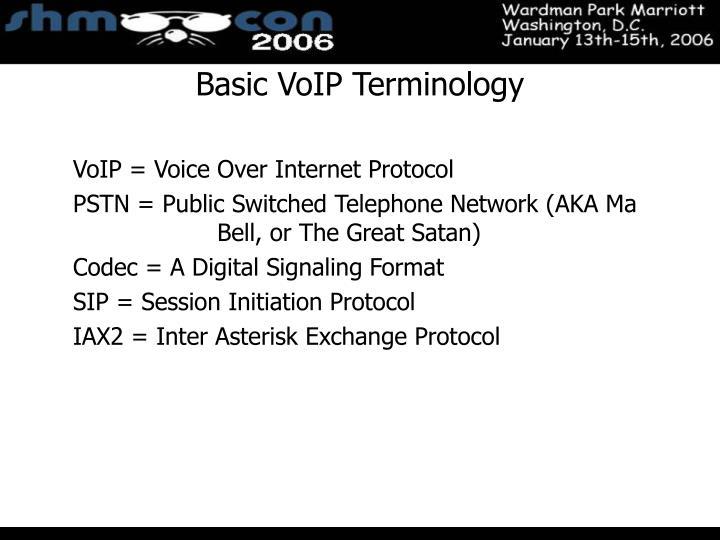 Basic VoIP Terminology