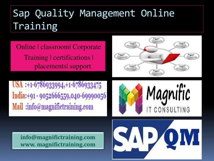 sap quality management online training n.