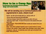 how to be a camp spy purchasing and viewing summer photos blogs and social media