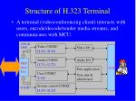 structure of h 323 terminal