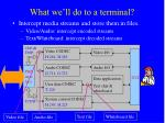 what we ll do to a terminal