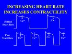 increasing heart rate increases contractility