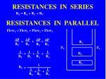 resistances in series