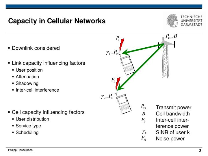 Capacity in cellular networks