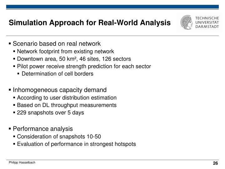 Simulation Approach for Real-World Analysis