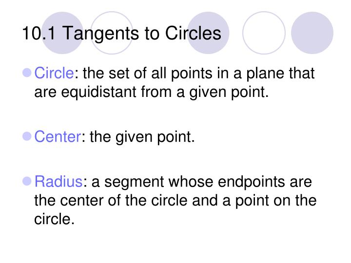 10 1 tangents to circles