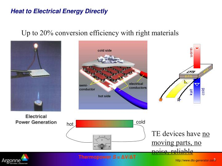 Heat to electrical energy directly