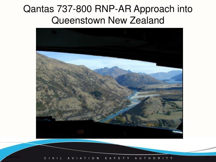 Qantas 737-800 RNP-AR Approach into Queenstown New Zealand