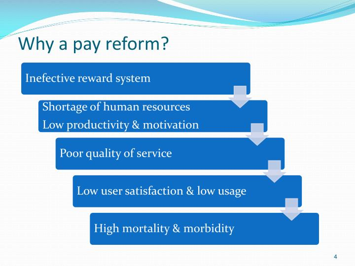 Why a pay reform?