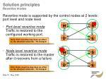 solution principles revertive modes