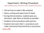 experiment writing procedure help students plan and write clear detailed directions