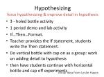 hypothesizing force hypothesizing improve detail in hypothesis