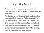 repeating myself
