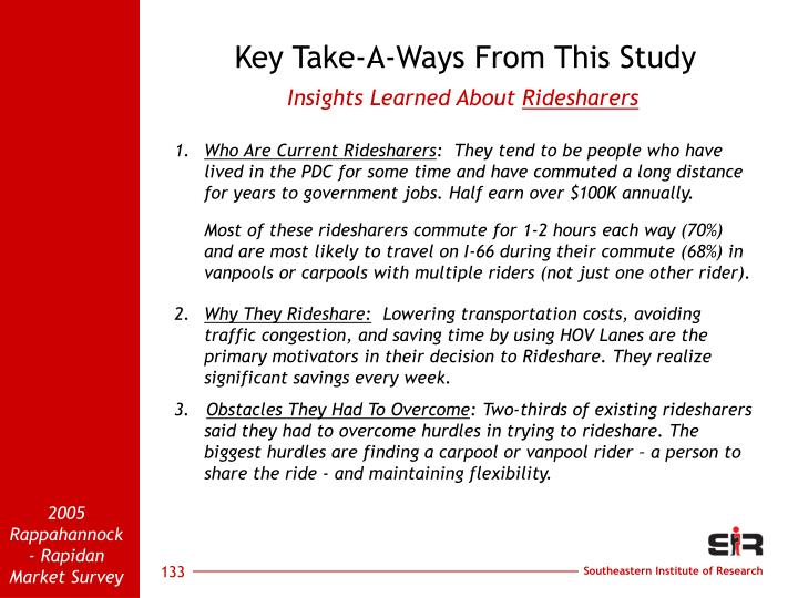 Key Take-A-Ways From This Study