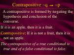 contrapositive q p