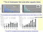 137 cs in freshwater fish and other aquatic biota