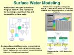 surface water modeling