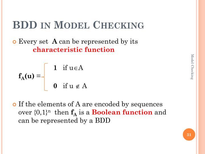 BDD in Model Checking