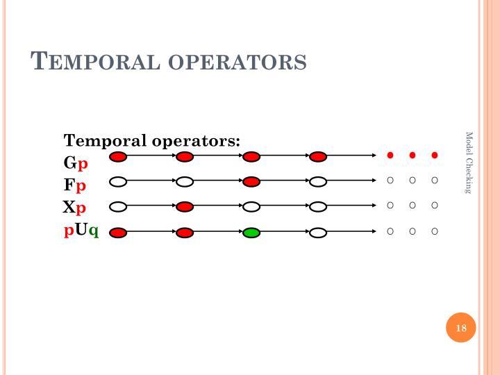 Temporal operators