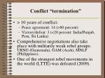 conflict termination