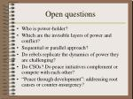 open questions