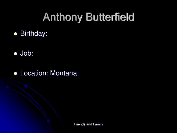 Anthony Butterfield