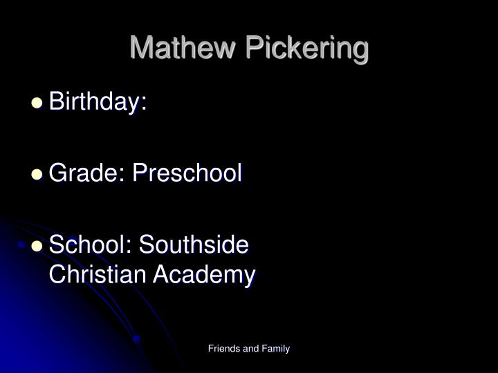 Mathew Pickering