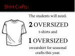 shirt crafts