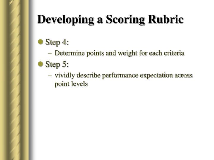 Developing a Scoring Rubric