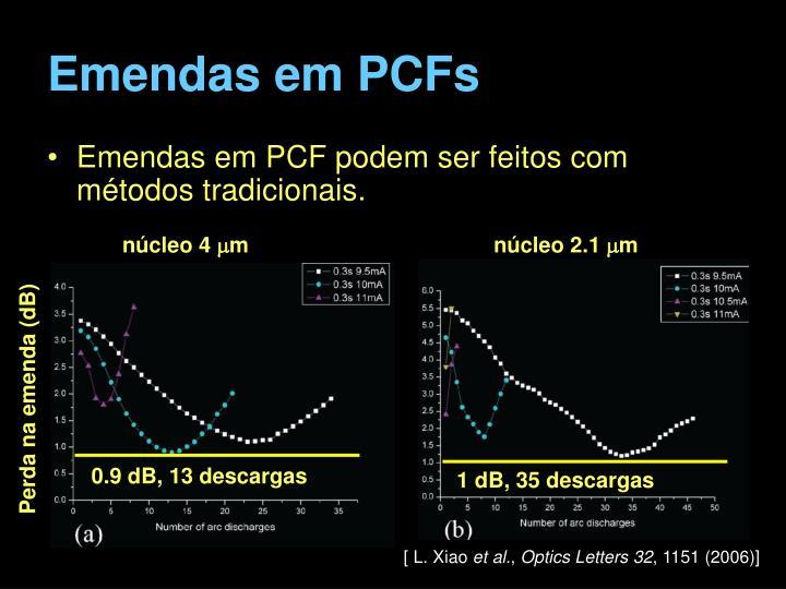 Emendas em PCFs