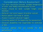 consideration before assessment