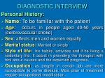 diagnostic interview