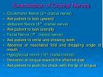 examination of cranial nerves