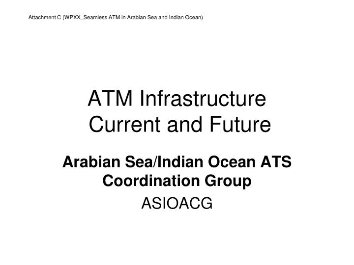 Atm infrastructure current and future