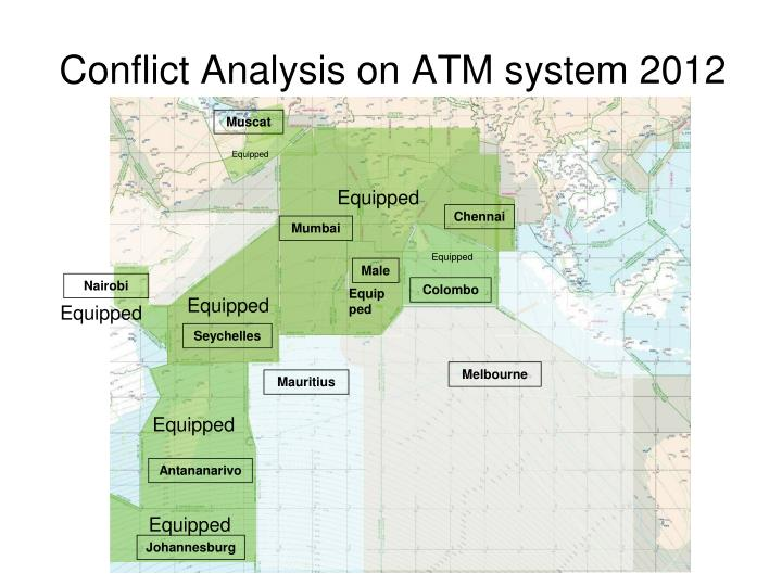 Conflict Analysis on ATM system 2012