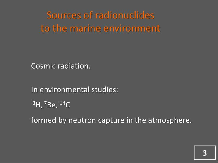 Sources of radionuclides to the marine environment