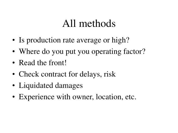All methods