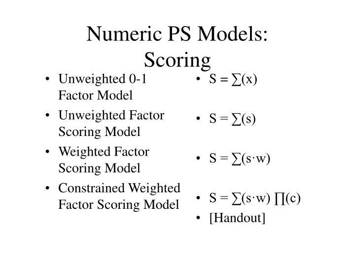 Unweighted 0-1 Factor Model