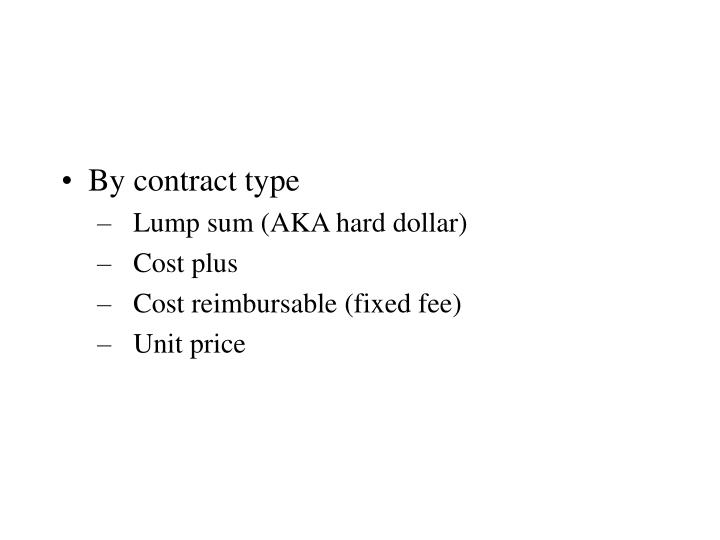 By contract type