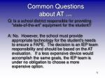 common questions about at cont5