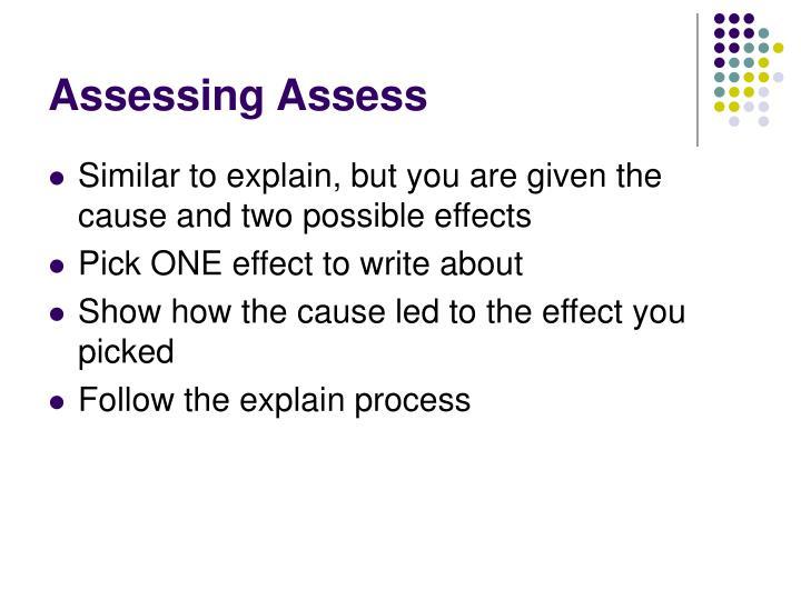 Assessing Assess