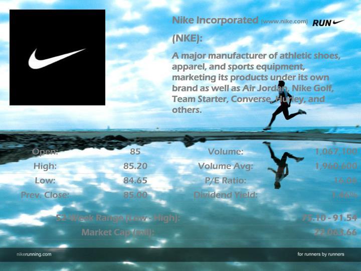 Nike Incorporated